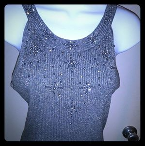 Beaded Silver Cache top